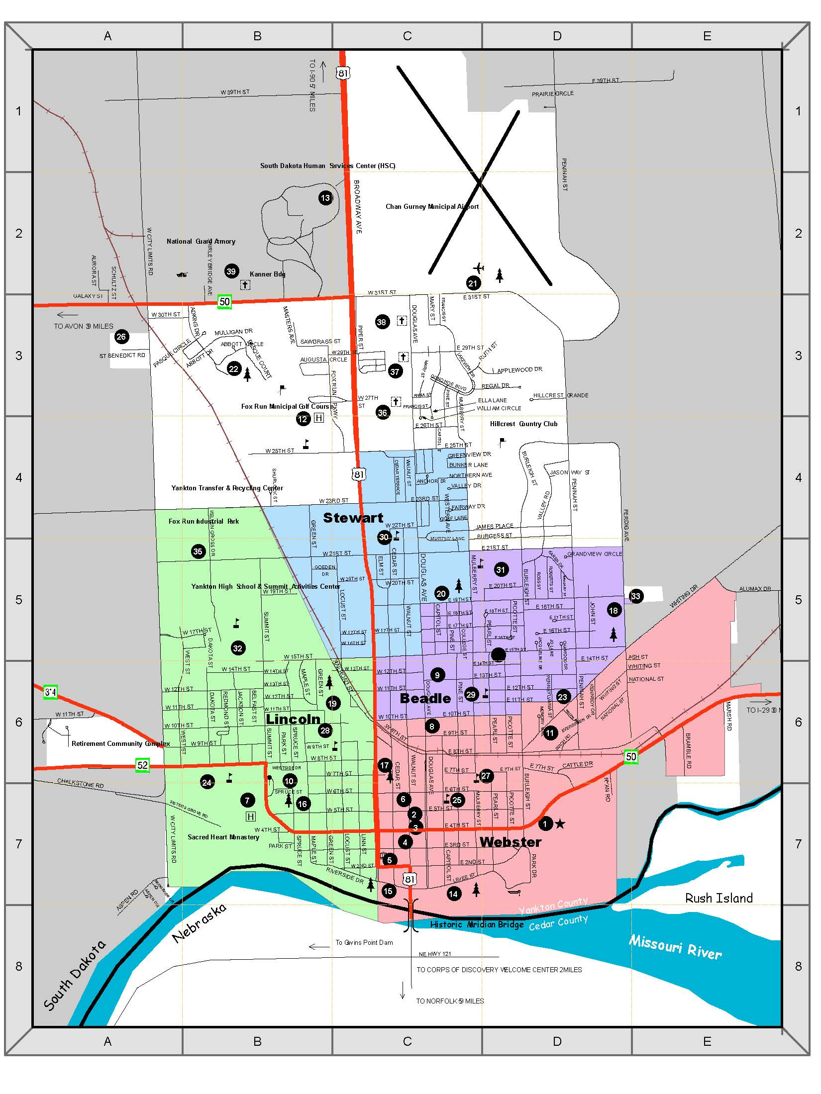 District Schools Boundaries Map